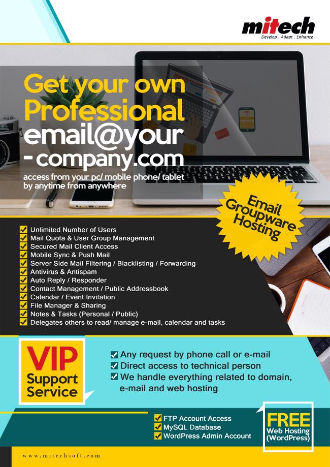 E-mail Groupware Hosting | Mitechsoft Resources Sdn  Bhd